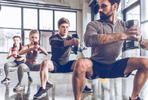 People in the gym behaviour change new years resolution