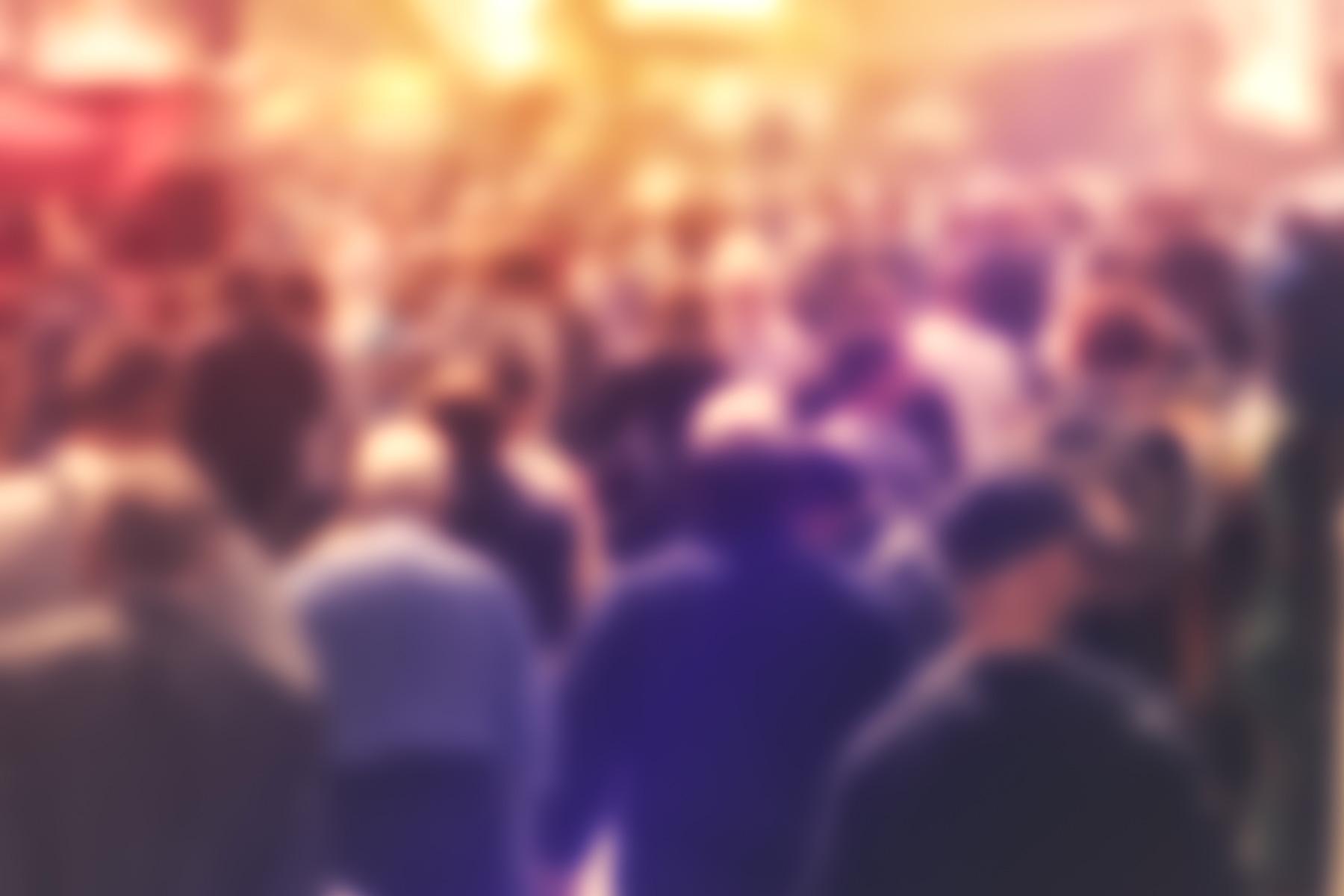 Blurred crowd of people - New Australian Bureau of Statistics Report