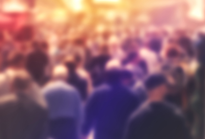 Blurred crowd of people - New Australian Bureau of Statistics Report