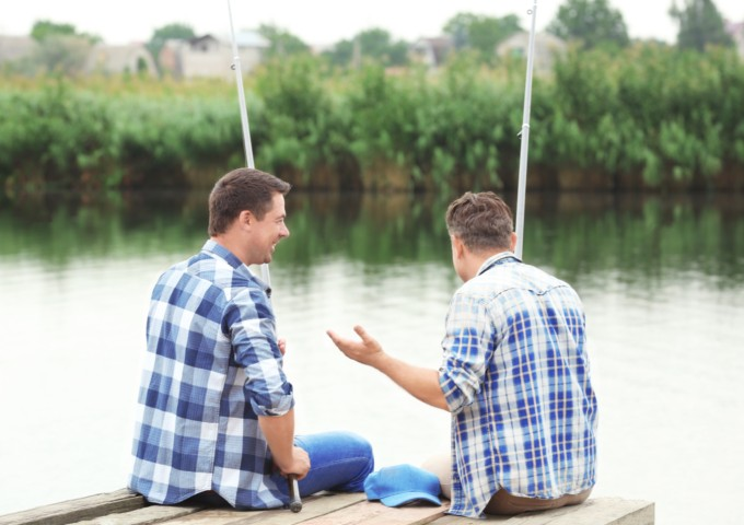 men fishing - new approaches to men's mental health are needed
